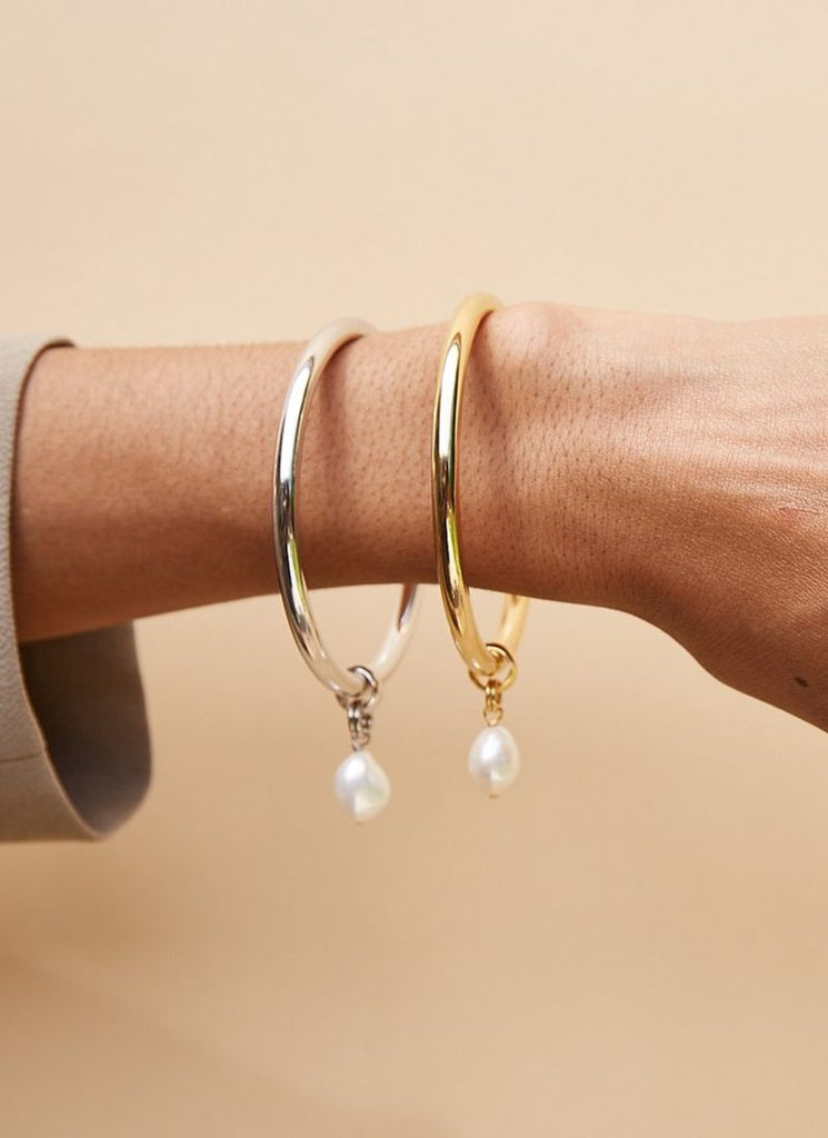 Biko Pearl-Drop Bangle