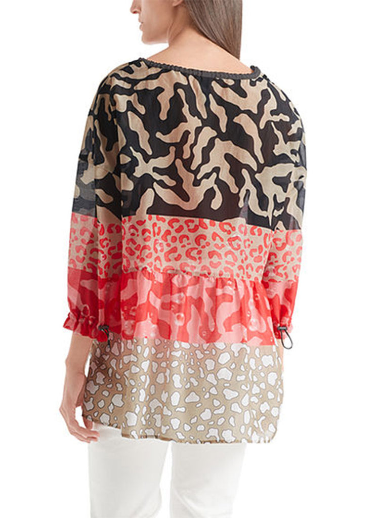 Marc Cain Cotton and Silk-Blend Printed Tunic
