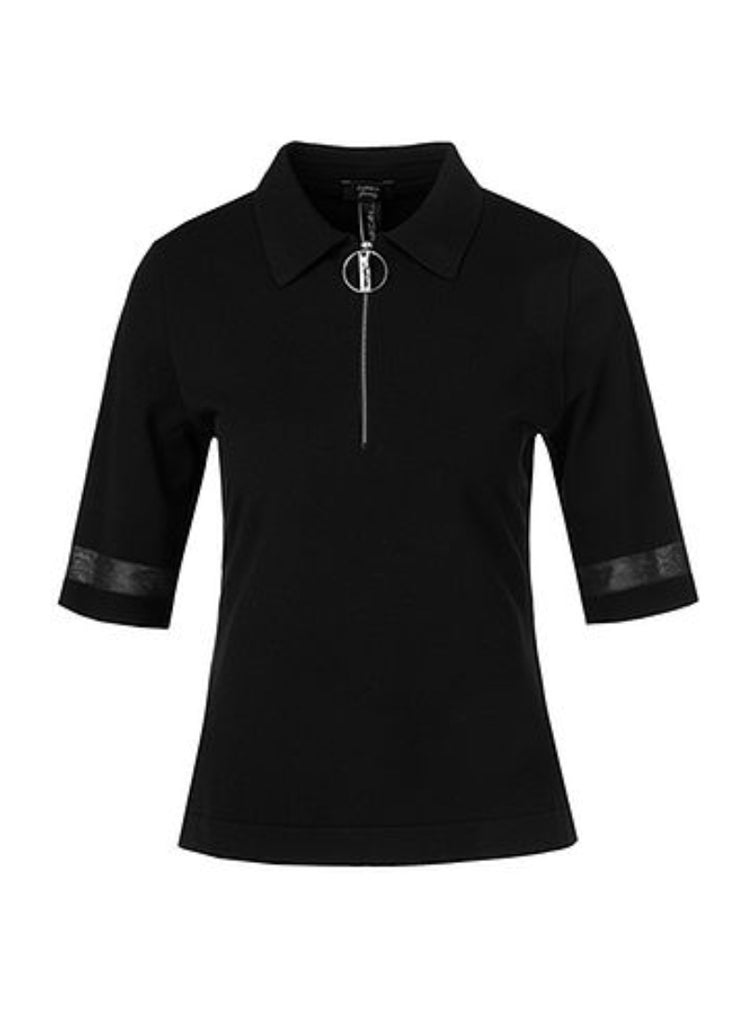 Marc Cain Zip-up Polo