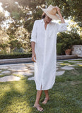 Frank & Eileen Rory White Washed Linen Dress