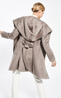 3/4 Hooded Wrap Coat Sentaler