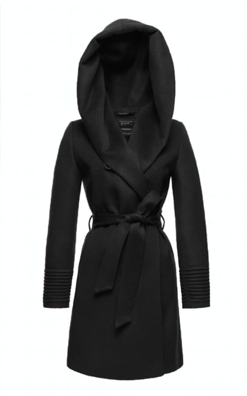 3/4 Wrap Coat with Hood Sentaler