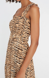 St Tropez Animal Midi Dress Faithfull