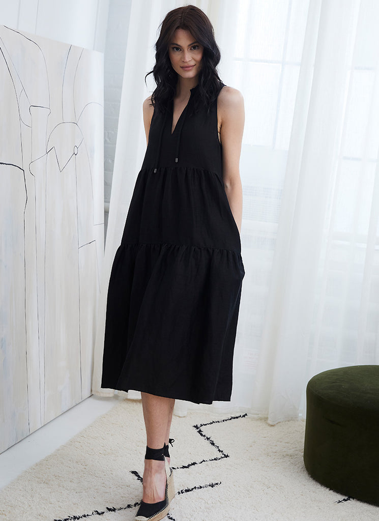 Marc Cain Black Sleeveless Maxi Dress