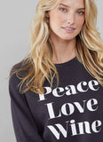 South Parade Rocky Peace-Love-Wine Sweatshirt
