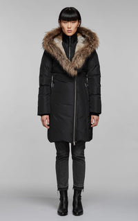 Trish Down Coat with Fur Hood Mackage