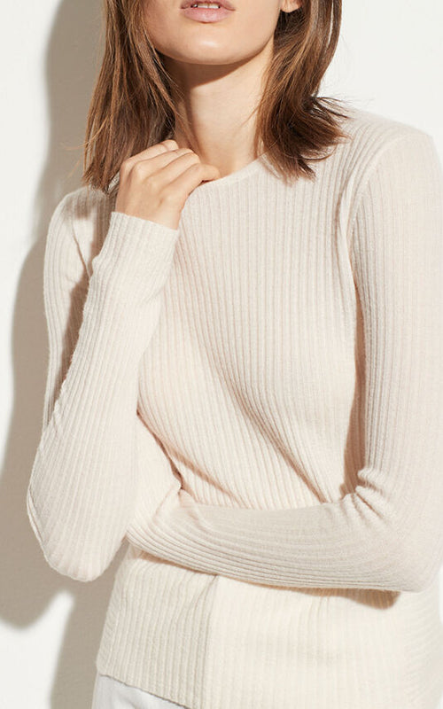 Directional Rib Cashmere Pullover Vince