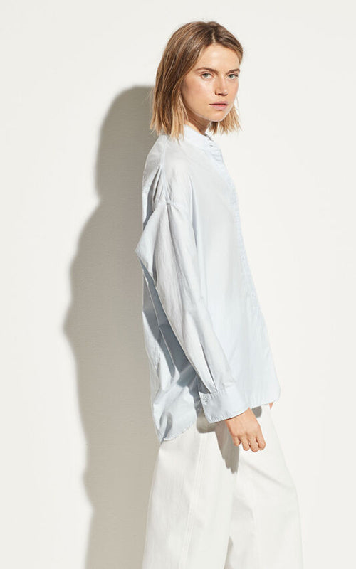 Raw Edge Oversized Button Down Vince