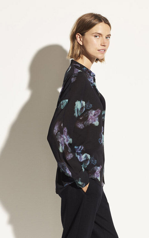 Painted Floral Blouse