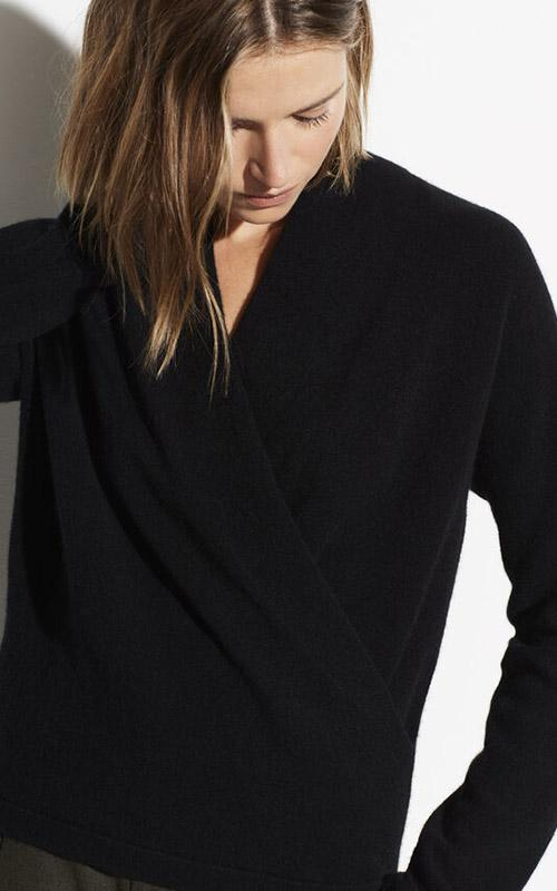 Wrap Front Pullover Vince