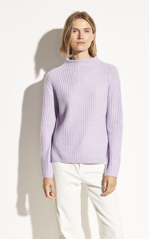 Rib Raglan Mock Neck Sweater Vince