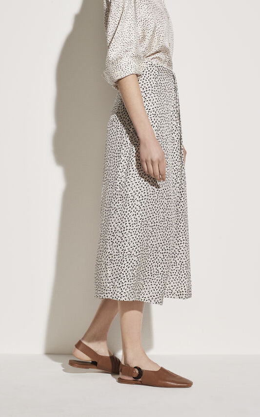 Star Dot Drape Skirt Vince