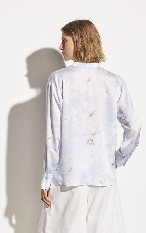 Painted Floral Blouse Vince