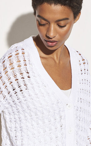 Open Cable Cardigan Vince