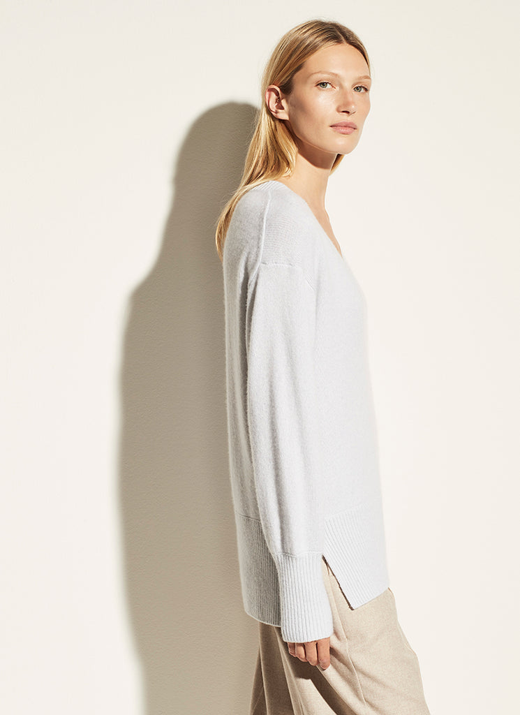 Ribbed Hem V Neck Tunic Vince