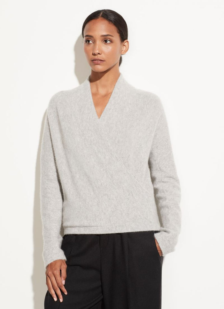 Vince Cashmere Wrap Front Pullover