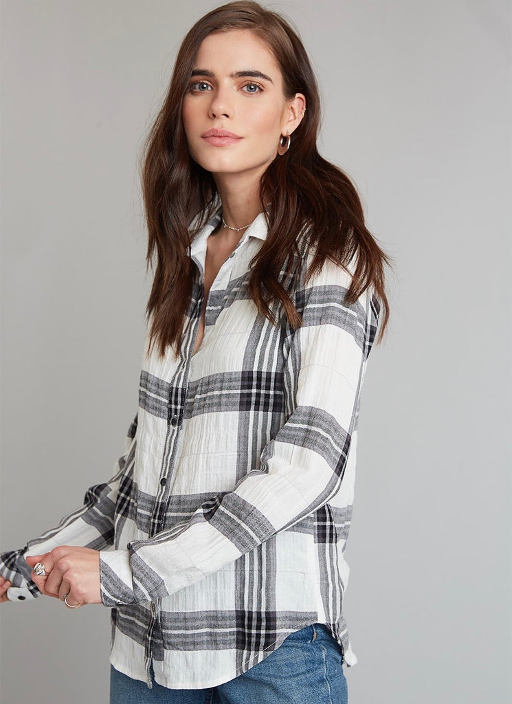 Bella Dahl Plaid Button Down