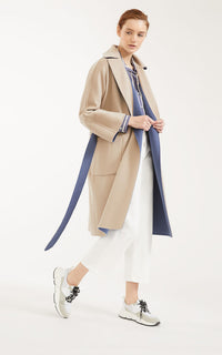 Balta Reversible Belted Wool Coat Weekend Max Mara