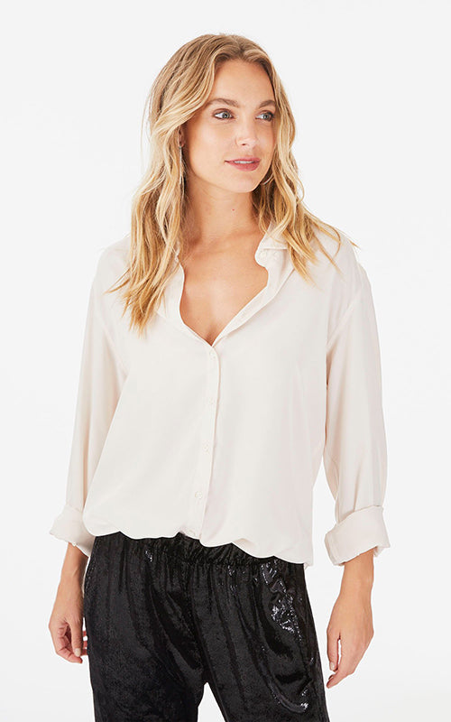 Beau Silk Button Up Xirena
