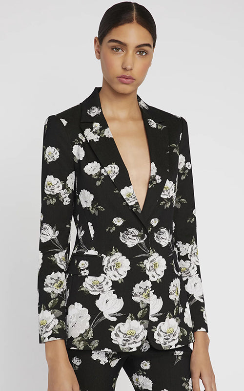 Alice and Olivia Macy Floral Blazer
