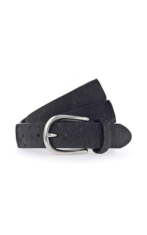 Thin Metallic Belt - Black B Belt