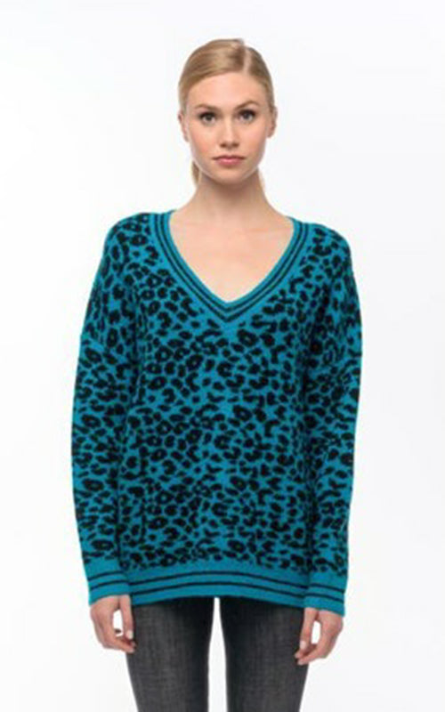 Berto Animal V Neck Sweater John & Jenn