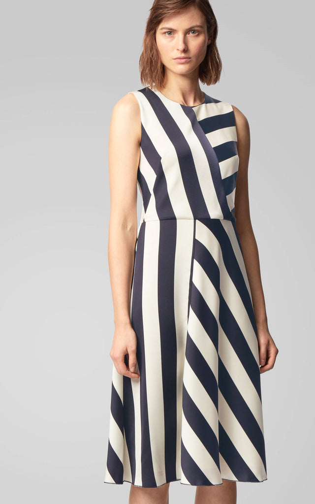 OSS Dalta Block-Striped Midi-length Dress | ANDREWS