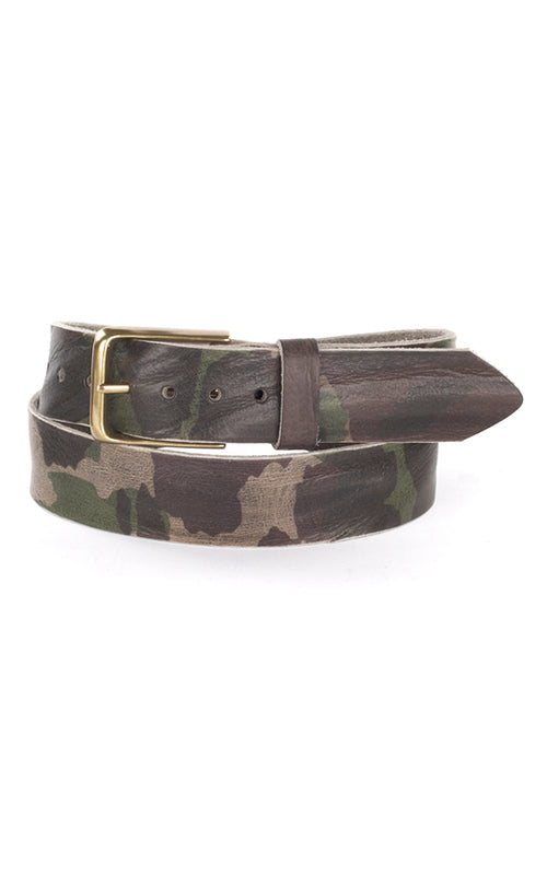 Joe Camo Belt Brave Leather