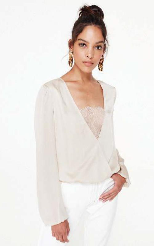 Cami NYC Lace Trim Blouse
