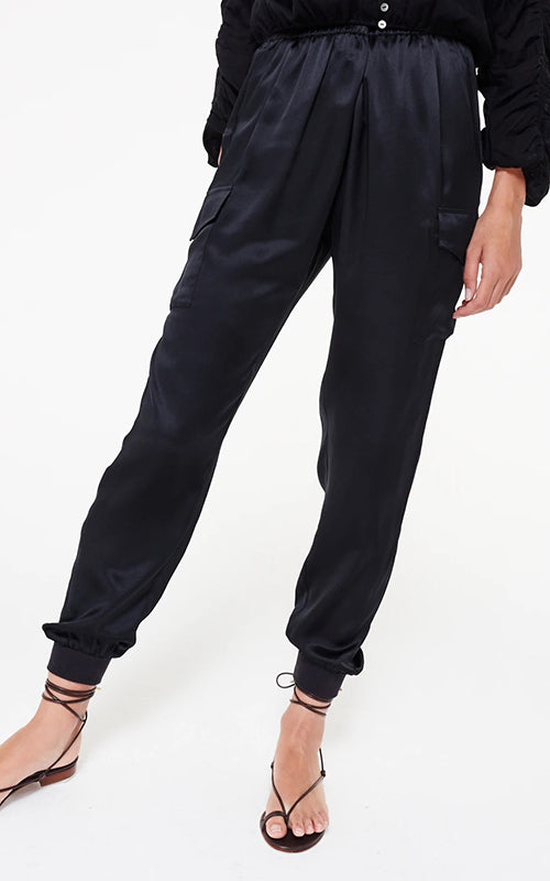 Cami NYC Silk Jogger - Black