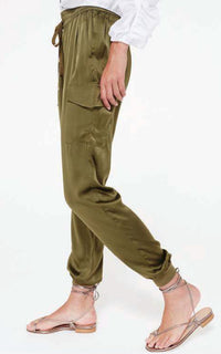 Cami NYC Elsie Silk Jogger - Moss
