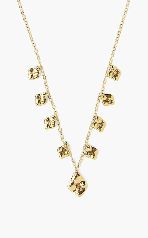 Chan Luu Hammered Gold Plated Necklace