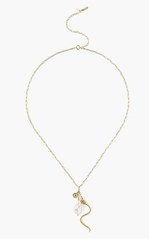 Chan Luu Snake Pendant Necklace With Pearl