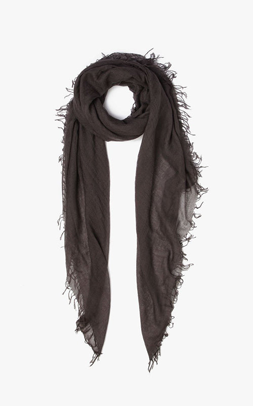 Grey Cashmere and Silk Scarf Chan Luu