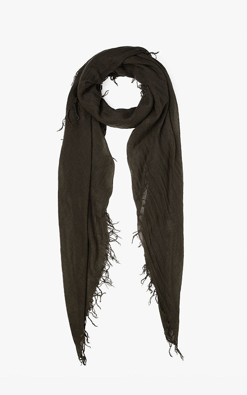 Olive Cashmere and Silk Scarf Chan Luu