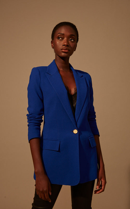 Tailored Blazer Cobalt
