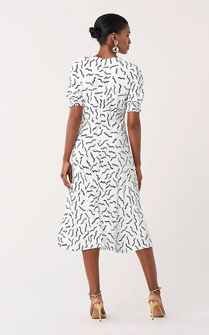Idris Cinch-Sleeve Midi Dress Diane Von Furstenberg