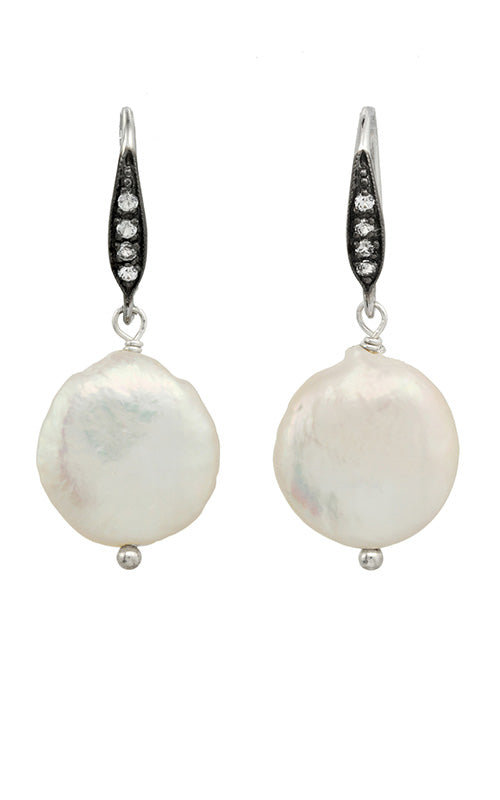 Coin Pearl Earrings Margo Morrison