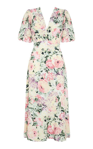 Faithfull Vittoria Floral Midi Dress