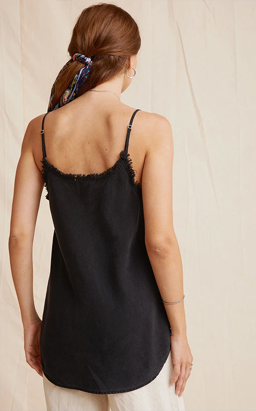 Frayed Cami - Black Bella Dahl