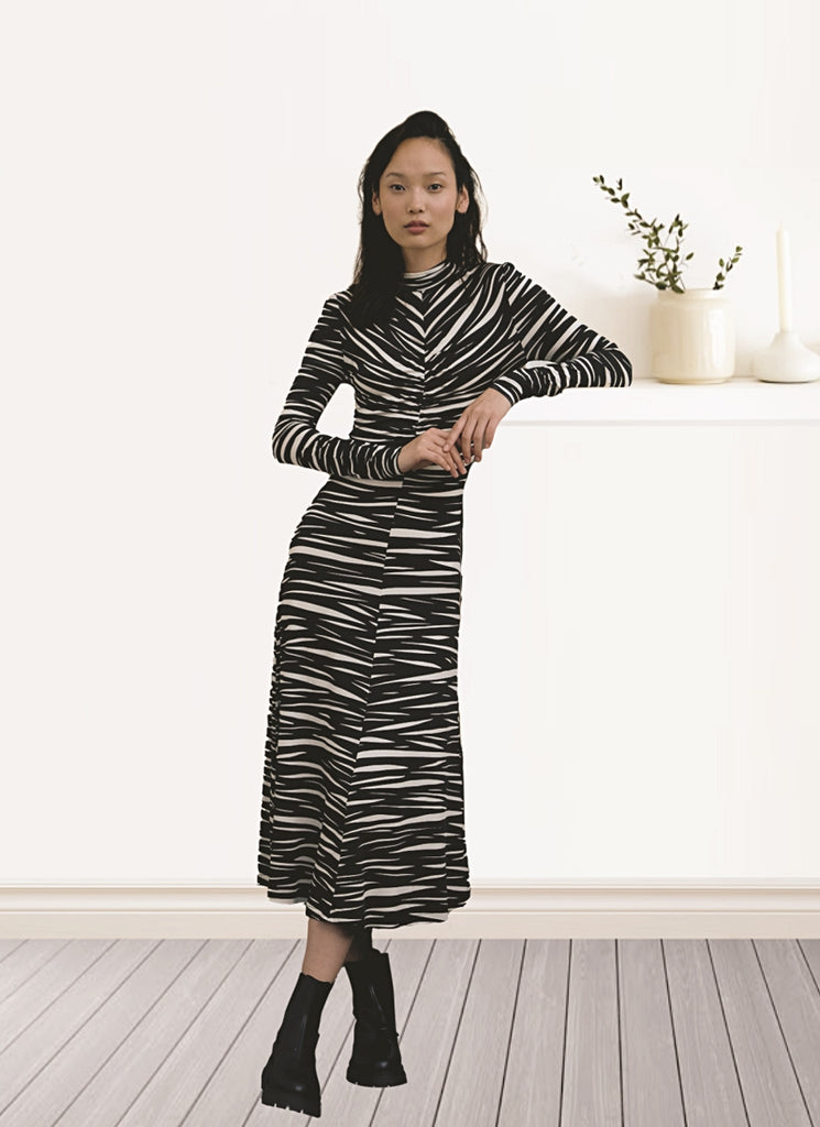 Jersey Zebra Asher Dress