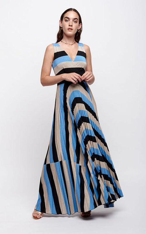Stripe Knit Maxi Dress Sfizio
