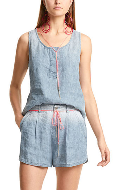 Denim Linen Tank Marc Cain