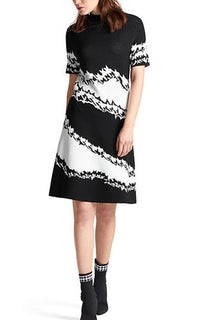 Houndstooth Knit Dress Marc Cain
