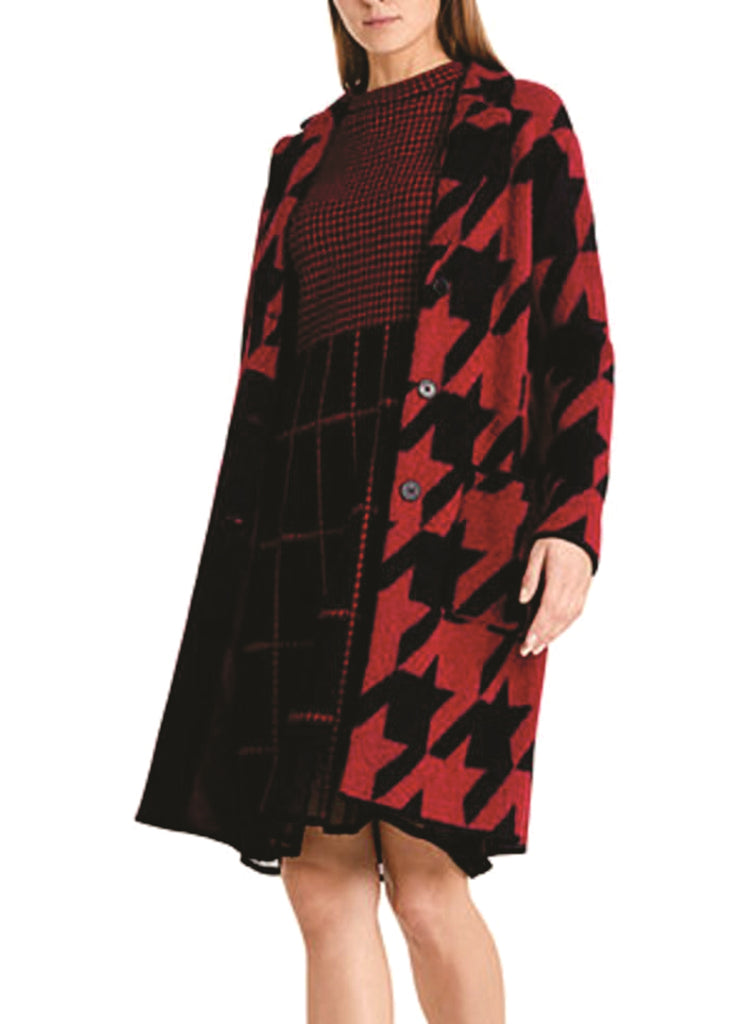 Marc Cain Bold Houndstooth Coat