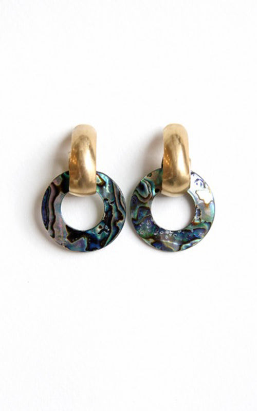 Michelle Ross Abalone Shell Earring