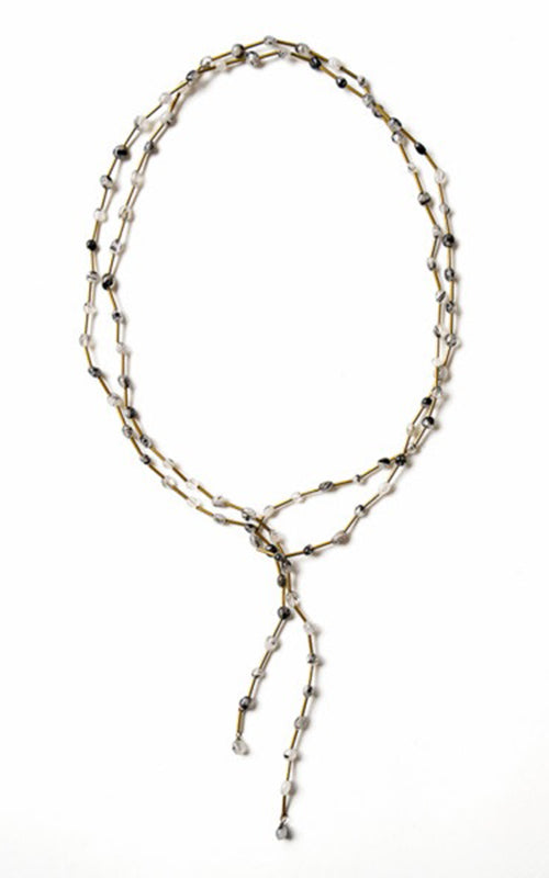 Michelle Ross Quartz Tie Necklace