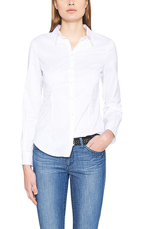 Cotton Poplin Shirt Marc Cain