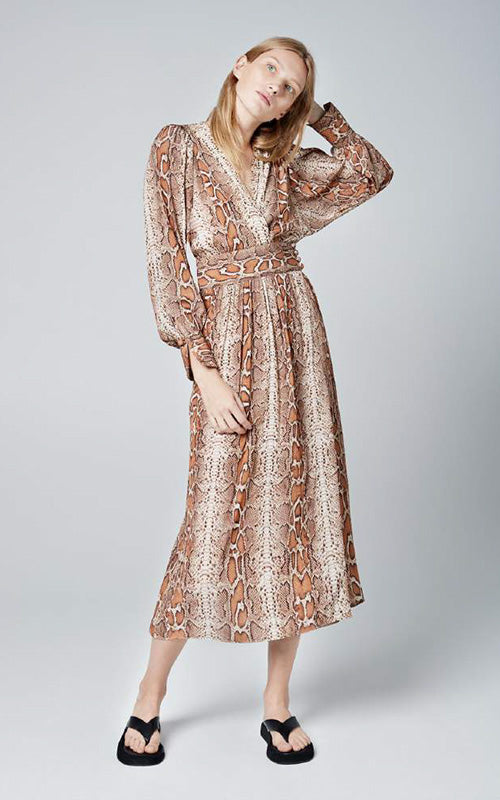 Snake Wrap Dress Smythe