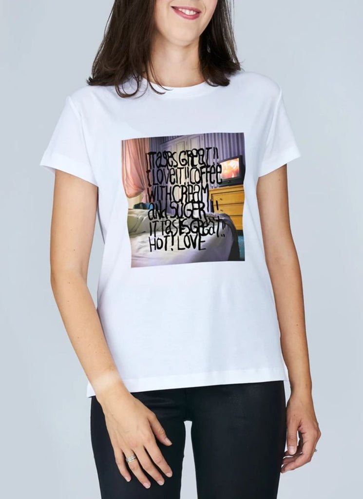 Suzi Roher Niki Coffee In Bed Tee